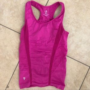 Ellie Pink detail workout tank with bra attached